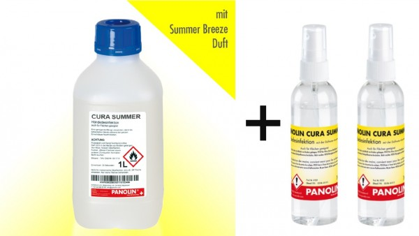 Desinfektionsmittel to-go Bundle CURA SUMMER